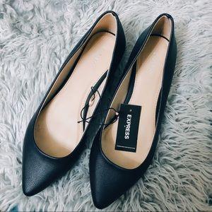 Express black flats, size 8